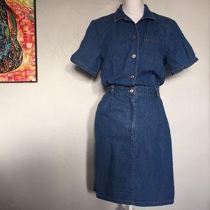 Vintage 1980s Jean Dress